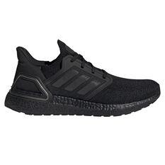 adidas Ultraboost 20 All Blacks Mens Running Shoes Black US 7, Black, rebel_hi-res