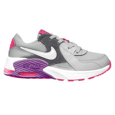 Nike Air Max Excee Kids Casual Shoes Grey / Purple US 11, Grey / Purple, rebel_hi-res