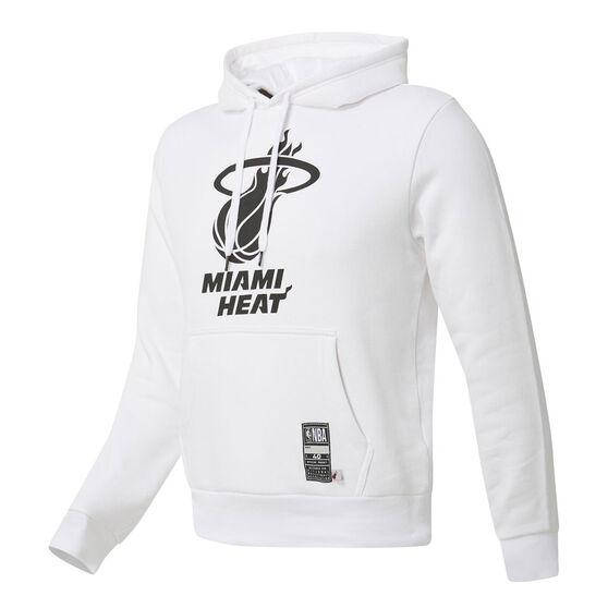 Miami Heat Mens Fleece Hoodie, White, rebel_hi-res