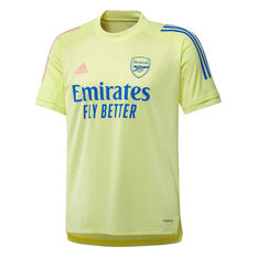 Arsenal 2020/21 Mens Training Jersey Yellow XS, Yellow, rebel_hi-res