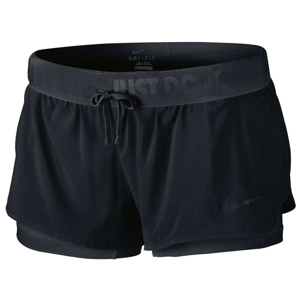 287ff434f2932 Nike Womens Full Flex 2 in 1 Shorts Black L Adult