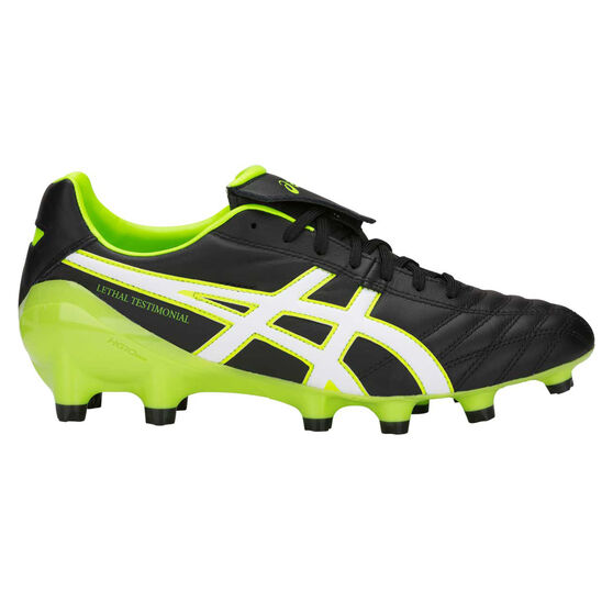 Asics Lethal Testimonial 4 IT Mens Football Boots, Black / Green, rebel_hi-res