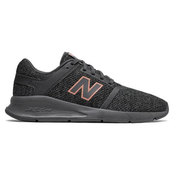 New Balance 24v2 Womens Casual Shoes, Black / Grey, rebel_hi-res