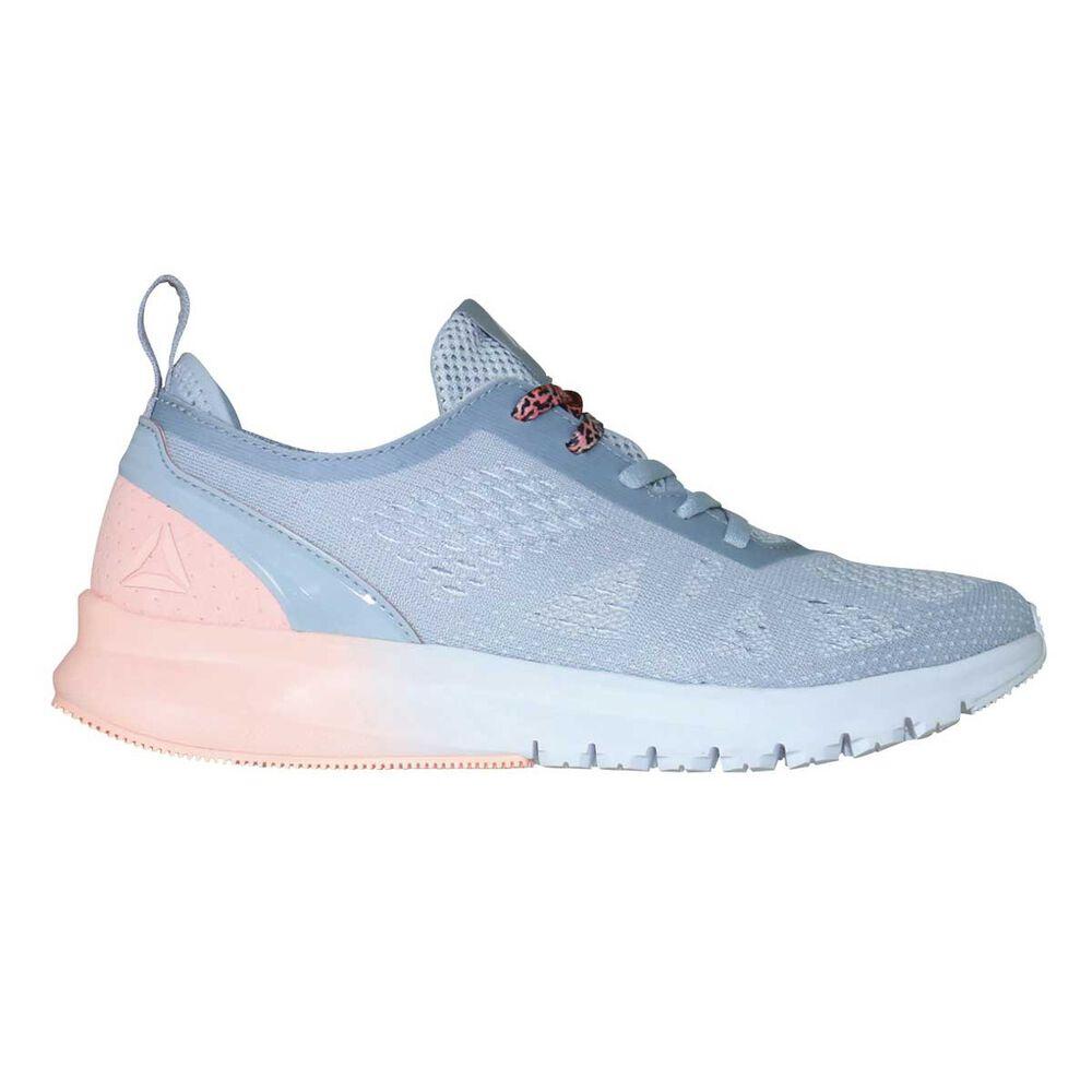 Reebok Print Smooth Clip Womens Running Shoes Grey   White US 9 ... 1720c9c84