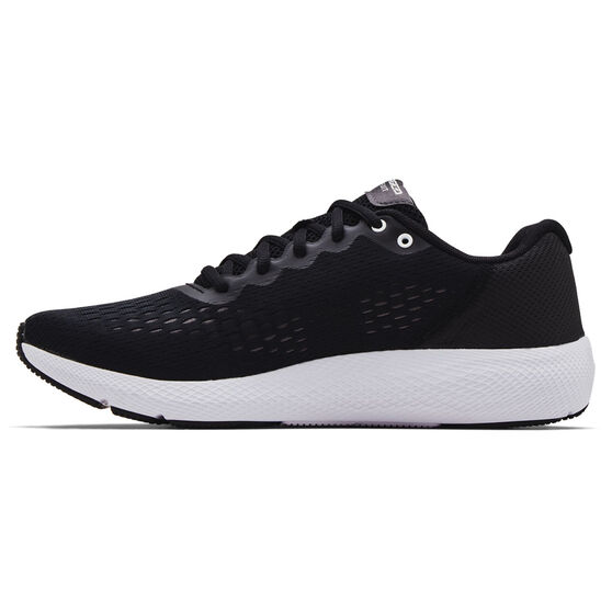 Under Armour Charged Pursuit 2 Mens Running Shoes, Black/White, rebel_hi-res