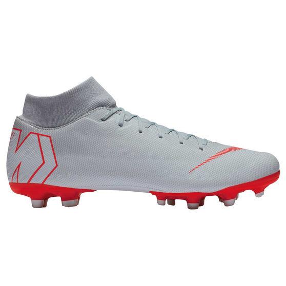 Nike Mercurial Superfly VI Academy MG Mens Football Boots Grey / White US 8.5, Grey / White, rebel_hi-res