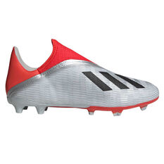 adidas X 19.3 Laceless Football Boots Silver / Black US Mens 7 / Womens 8, Silver / Black, rebel_hi-res