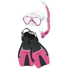 Mares Seahorse Coral Junior Snorkel Set Pink S / M, Pink, rebel_hi-res