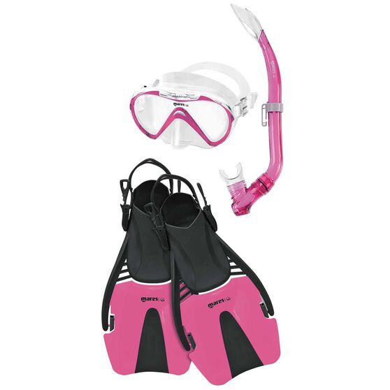 Mares Seahorse Coral Junior Snorkel Set Pink L / XL, Pink, rebel_hi-res