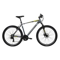 Flight Traverse 2 27.5in Mens Mountain Bike Grey / Yellow S, Grey / Yellow, rebel_hi-res