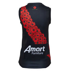 Essendon Bombers 2020 Kids Anzac Guernsey Black/Red S, Black/Red, rebel_hi-res