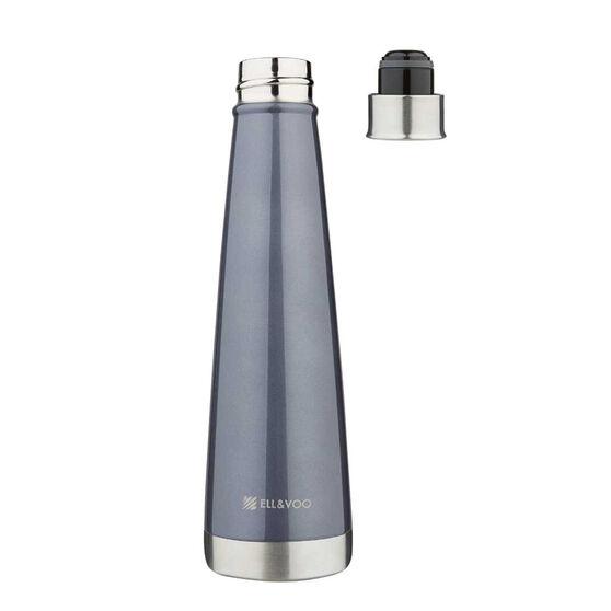 Ell & Voo Aria 430ml Insulated Drink Bottle Black, Black, rebel_hi-res
