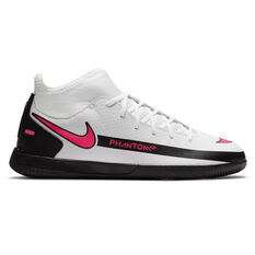 Nike Phantom GT Club Kids Indoor Soccer Shoes White/Pink US 1, White/Pink, rebel_hi-res