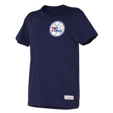 Philadelphia 76ers Mens Retro Repeat Tee Navy S, Navy, rebel_hi-res