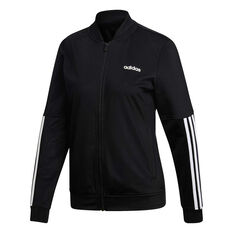 adidas Womens Back to Basics 3 Stripes Tracksuit Black / White XS, Black / White, rebel_hi-res