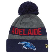 Adelaide Crows 2018 New Era Jake Beanie Grey OSFA, , rebel_hi-res
