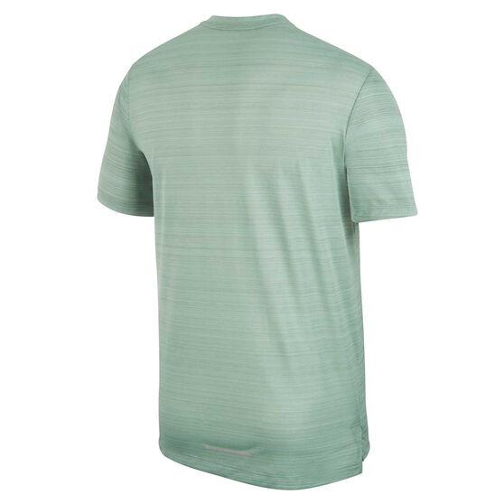 Nike Mens Dri-FIT Miler Running Tee, Green, rebel_hi-res