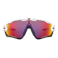 Oakley Jawbreaker Sunglasses Polished White/Prizm Road, Polished White/Prizm Road, rebel_hi-res