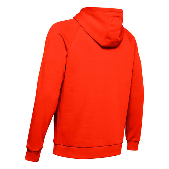 Under Armour Mens Rival Logo Fleece Hoodie, Orange, rebel_hi-res