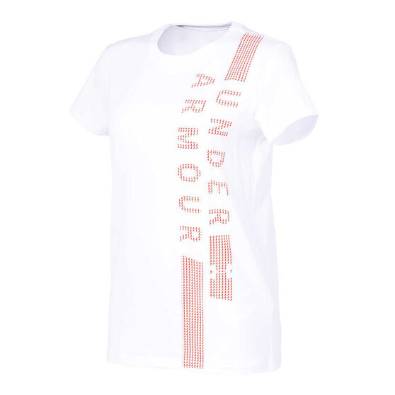 Under Armour Womens Classic Crew Tee, White, rebel_hi-res