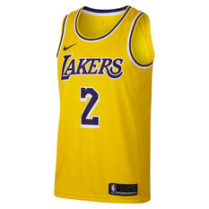 Los Angeles Lakers Lonzo Ball 2019 Mens Statement Swingman Jersey Yellow S, Yellow, rebel_hi-res