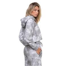 L'urv Womens In The Clouds Pullover Hoodie, Grey, rebel_hi-res