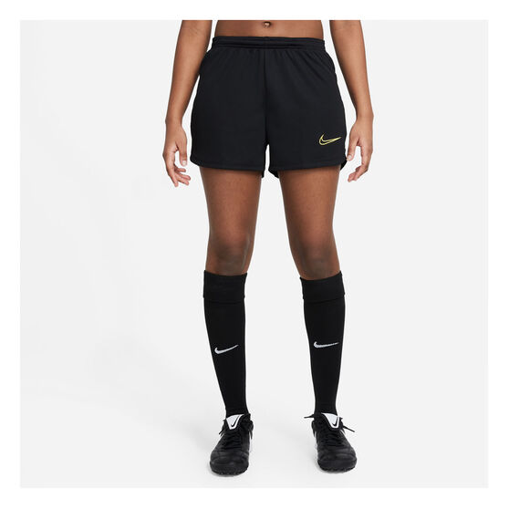 Nike Womens Dri-FIT Academy 21 Football Shorts, Black, rebel_hi-res