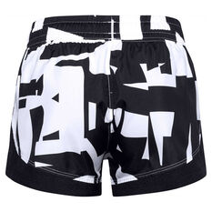 Under Armour Girls Sprint Printed Shorts Black XS, Black, rebel_hi-res