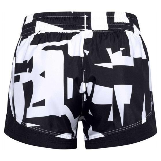 Under Armour Girls Sprint Printed Shorts, Black, rebel_hi-res