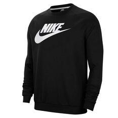 Nike Sportswear Mens Fleece Sweatshirt Black XS, Black, rebel_hi-res