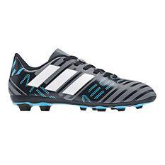 adidas Nemeziz Messi 17.4 Junior Football Boots Grey / White US 11 Junior, Grey / White, rebel_hi-res