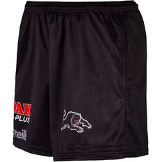 Penrith Panthers 2020 Mens Training Shorts Black S, Black, rebel_hi-res