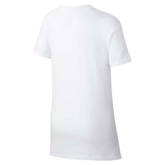 Nike Girls DPTL Basic Futura T-Shirt, White / Pink, rebel_hi-res