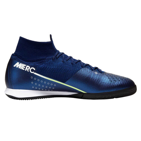 Nike Mercurial Superfly VII Elite Indoor Soccer Shoes, Blue / Silver, rebel_hi-res