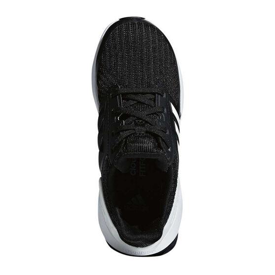 adidas RapidaRun Knit Junior Running Shoes, Black / White, rebel_hi-res