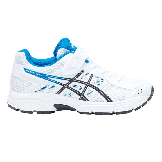 Asics Gel Contend 4 Kids Running Shoes White / Blue US 11, White / Blue, rebel_hi-res