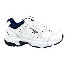Sfida Dominator Lace Boys Cross Training Shoes White / Navy US 11, White / Navy, rebel_hi-res