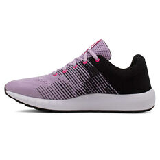 Under Armour Pursuit NG Kids Running Shoes Purple / White US 4, Purple / White, rebel_hi-res