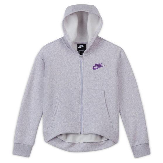 Nike Girls VF NSW FZ Club Hoodie, Purple, rebel_hi-res
