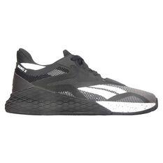 Reebok Nano X Womens Training Shoes Black/White US 6, Black/White, rebel_hi-res