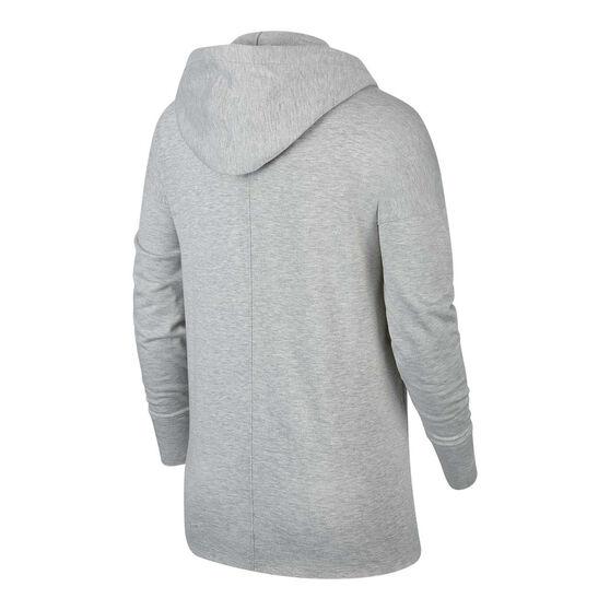 Nike Womens Yoga Luxe Hoodie, Grey, rebel_hi-res