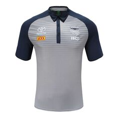 North Queensland Cowboys 2020 Mens Performance Polo Grey / Navy S, Grey / Navy, rebel_hi-res