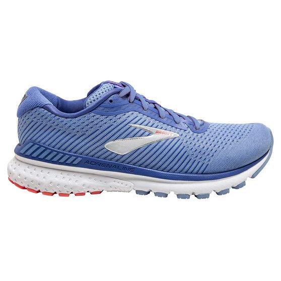 Brooks Adrenaline GTS20 Womens Running Shoes, Blue/Coral, rebel_hi-res