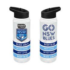 NSW Blues State of Origin 2019 Tritan Water Bottle with Bracelets, , rebel_hi-res