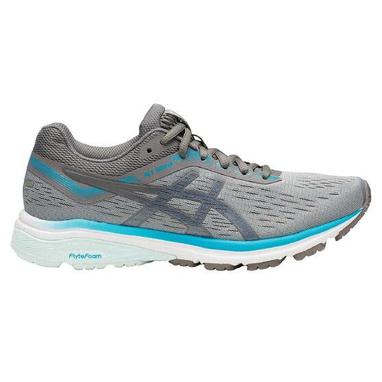 Asics GT 1000 7 Womens Running Shoes, Grey / Blue, rebel_hi-res