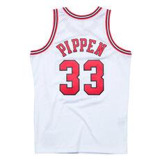 Chicago Bulls Scottie Pippen 97/98 Mens Jersey White S, White, rebel_hi-res