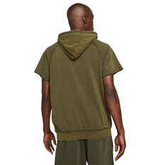 Jordan Dri-FIT Zion Mens Cutoff Hoodie Brown S, Brown, rebel_hi-res