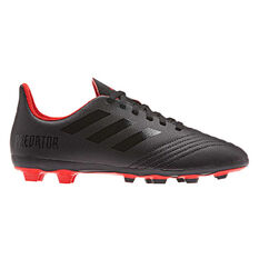 adidas Predator 19.4 FXG Kids Football Boots Black / Red US 11, Black / Red, rebel_hi-res