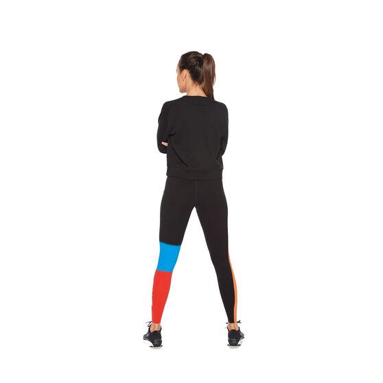 2XU Womens Form Crop Sweater, Black, rebel_hi-res