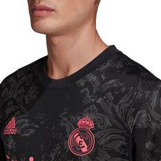 Real Madrid CF 2020/21 Mens 3rd Jersey Black S, Black, rebel_hi-res